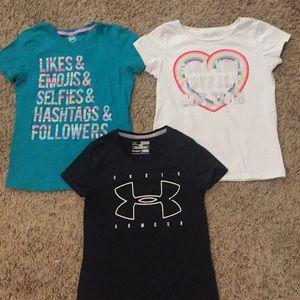 Girls shirts size medium